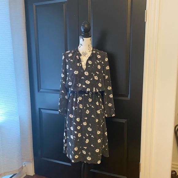 NWOT J. Crew floral flounce dress - size XS